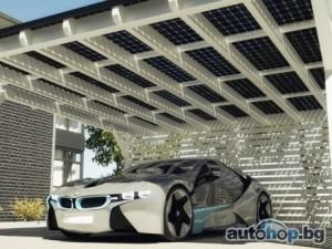 BMW разработала навес из солнечных батарей для своих электромобилей