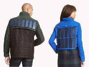 Компания Tommy Hilfiger выпустила серию курток со встроенными солнечными панелями