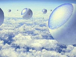 Ученые предложили сделать солнечные электростанции в виде воздушных шаров и запустить из выше облаков