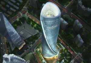 В Шанхае построили небоскреб с полным энергоснабжением от 270 вмонтированных ветротурбин