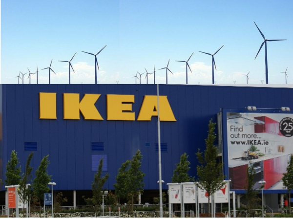 ИКЕА покрывает за счет ВИЭ 73% потребности в электроэнергии