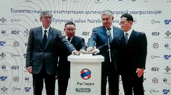 Российские энергетики запустили ветряную электростанцию в посёлке Тикси